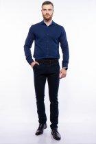 Рубашка мужская с мелким принтом Time of Style 204P1163 XXL Чернильно-голубой - изображение 2