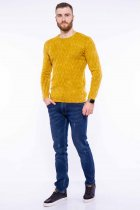 Джемпер приталенного кроя Time of Style 11P243 XL Желтый варенка - изображение 2