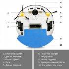 Тихий ультратонкий моющий робот-пылесос INSPIRE Galaxy с функцией ультразвуковой самоочистки FQ3C White - изображение 16