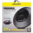 Портативная акустика AWEI Y290 Bluetooth Speaker-Wireless Charger Black - изображение 2