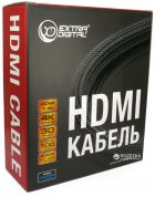Кабель ExtraDigital HDMI to HDMI, 15 м, v1.4b, 26 AWG, Gold, Nylon, 2xFerrites (KBH1614) - зображення 4