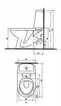 Унитаз-компакт KOLO SOLO 79232 с бачком и сиденьем полипропилен - изображение 4