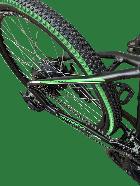 """Электровелосипед MAKE 36V 12Ah 500W рама 17""""/ 26"""" чёрно-зелёный - изображение 2"""