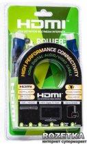 Кабель PowerPlant HDMI - HDMI 3 м, Gold Plated, v1.4, Nylon Double ferrites (KD00AS1202) - зображення 2
