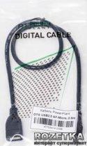 Кабель PowerPlant OTG USB 2.0 AF - Micro 0.5 м (KD00AS1233) - зображення 2