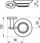 Мильниця RAVAK Chrome CR 200 X07P187 - зображення 2
