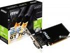 MSI PCI-Ex GeForce GT 710 1024 MB DDR3 (64bit) (954/1600) (DVI, HDMI, VGA) (GT 710 1GD3H LP) - изображение 4