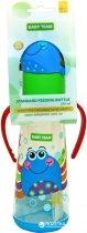Бутылочка для кормления с силиконовой соской Baby Team с ручками 0+ 250 мл Крабик (1414_Крабик) - изображение 2