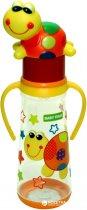 Бутылочка для кормления с силиконовой соской Baby Team с ручками 0+ 250 мл Черепашка (1414_Черепашка) - изображение 1