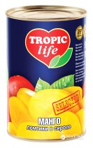 Манго ломтиками в сиропе Tropic Life 425 г (4820086920964 / 5060162900759) - изображение 1