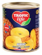 Ананас кольцами в сиропе Tropic Life 850 мл (4820086920063 / 5060162900155) - изображение 1