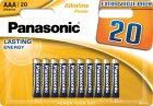 Батарейки Panasonic Alkaline Power щелочные AAA блистер, 20 шт (LR03REB/20BW) - изображение 1
