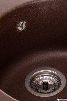 Кухонна мийка Granado Vitoria Marron (0106) + сифон одинарний для кухонної мийки Nova - зображення 5