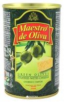Оливки зеленые с сыром Maestro de Oliva 300 г (8436024290103) - изображение 1