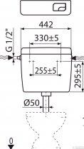 Бачок для унітаза ALCA PLAST Uni Dual A93 універсальний (8594045931051) - зображення 4