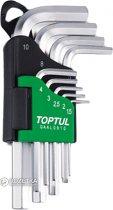 Набор ключей шестигранных Toptul 1.5-10 мм 9 предметов (GAAL0910) - изображение 1