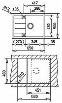 Кухонная мойка TEKA ASTRAL 45 B-TG серый металлик 40143582 - изображение 3
