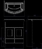 Тумба ВанЛанд Ірис Ірт 2-65 з умивальником Омега 65 - зображення 2