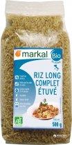 Рис Markal длиннозерный неочищенный пропаренный органический 500 г (3329485295006) - изображение 1