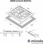 Варочная поверхность газовая MINOLA MGM 61424 IV RUSTIC - изображение 5