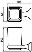 Стакан для зубних щіток AQUA RODOS Бостон 1206 хром - зображення 2