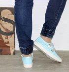 Кеды на липучках Jianfei X538 37 23.5см голубой - изображение 4
