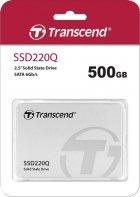 "SSD накопитель TRANSCEND SSD220Q 500GB 2.5"" SATAIII, QLC (TS500GSSD220Q) - изображение 3"