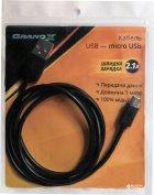 Кабель Grand-X USB - microUSB 1 м Black (PM01S) - изображение 3