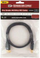 Кабель SCP 944E-3 HDMI to HDMI 0.9 м UltraHD 4K Black PVC (SCP944E-3) - зображення 2