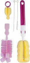 Набор щеток Canpol Babies для мытья бутылочек и сосок Розовые (7/403) - изображение 1