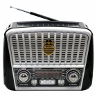 Радіо Ретро Golon RX-456S Портативна колонка з сонячною панеллю ліхтарик power bank (47064) - зображення 1
