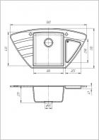 Кухонна мийка Galati Jorum 98B Grafit 201 (8468) - зображення 2
