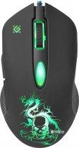 Миша Defender Sky Dragon з ігровою поверхнею GM-090L USB Black (52090) - зображення 3