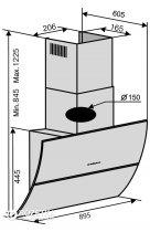 Вытяжка VENTOLUX SPACE 90 BK (1200) TRC AO - изображение 8