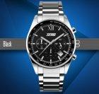Мужские наручные часы Skmei Tandem, металлические кварцевые с датой - изображение 2