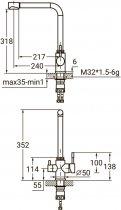 Кухонний змішувач з під'єднанням до фільтра AQUATICA KT-4B770P - зображення 8