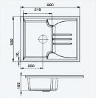 Кухонная мойка AQUAMARIN SPLIT 68-50 DSN Темный песок - изображение 5