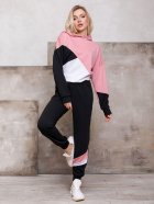 Спортивный костюм ISSA PLUS SA-112 L Черный с розовым (2001012268783) - изображение 1