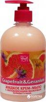 Жидкое крем-мыло Bioton Cosmetics Грейпфрут и Герань с увлажняющим молочком 500 мл (4820026144405) - изображение 1