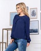 Блузка ELFBERG 5174 56 Темно-синя (2000000375724) - зображення 3