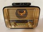 Аккумуляторный радиоприёмник колонка Kemai Retro (MD-1905BT) с Bluetooth и USB Gold - изображение 4