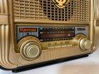 Аккумуляторный радиоприёмник колонка Kemai Retro (MD-1905BT) с Bluetooth и USB Gold - изображение 6