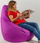 Крісло мішок груша 120х85см Фіолетовий - зображення 2