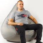 Крісло мішок груша 150х100 см Сірий - зображення 2