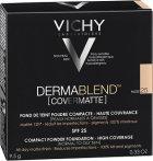 Пудра корректирующая для лица Vichy Dermablend Covermatte Compact Powder Foundation с матирующим эффектом оттенок 25 9.5 г ( 3337875563031) - изображение 3