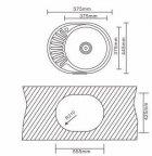 Кухонна мийка INTERLINE Eva мікродекор - зображення 9