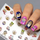 Водный слайдер дизайн на ногти Fashion Nails мультяшки, совы (М114) - изображение 1