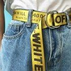 Ремень тканевый LeathART 130х3,5 см (acs0004361) Желтый - изображение 1