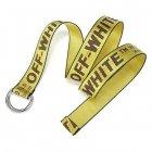 Ремень тканевый LeathART 130х3,5 см (acs0004361) Желтый - изображение 3
