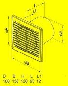 Вытяжной вентилятор Домовент 100 СВ (выключатель) - изображение 2